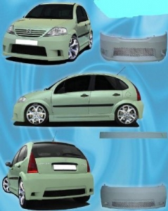 bodykit for citroen c3 2002 2004 avb sports car. Black Bedroom Furniture Sets. Home Design Ideas