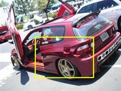 Fender flares hb (rear) for Honda Civic (1992 - 1995) › AVB Sports car tuning & spare parts