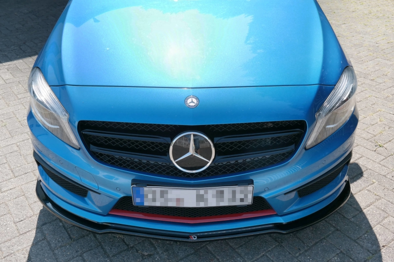 Arjo Front Splitter Mercedes Benz W176 Amg Line Preface Avb Sports Car Tuning Spare Parts