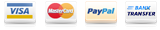 Visa, MasterCard, PayPal or Bank Transfer