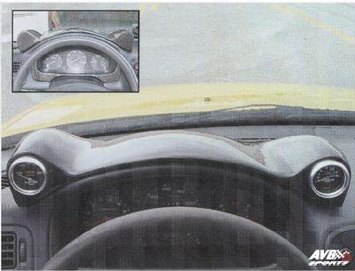Frog gauge pod for honda civic 1996 1998 avb sports car tuning spare parts for 1998 honda civic interior parts